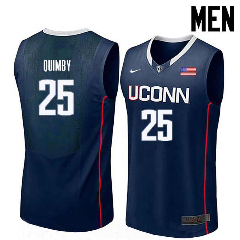 Men Uconn Huskies #25 Art Quimby College Basketball Jerseys-Navy