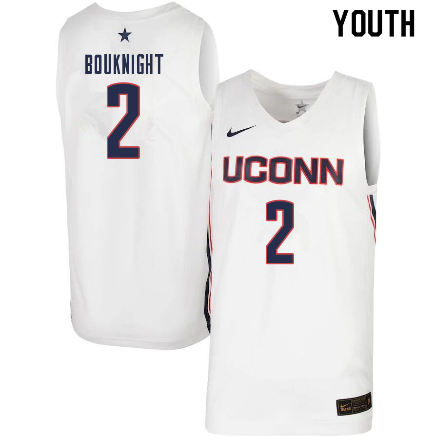 Youth #2 James Bouknight Uconn Huskies College Basketball Jerseys Sale-White