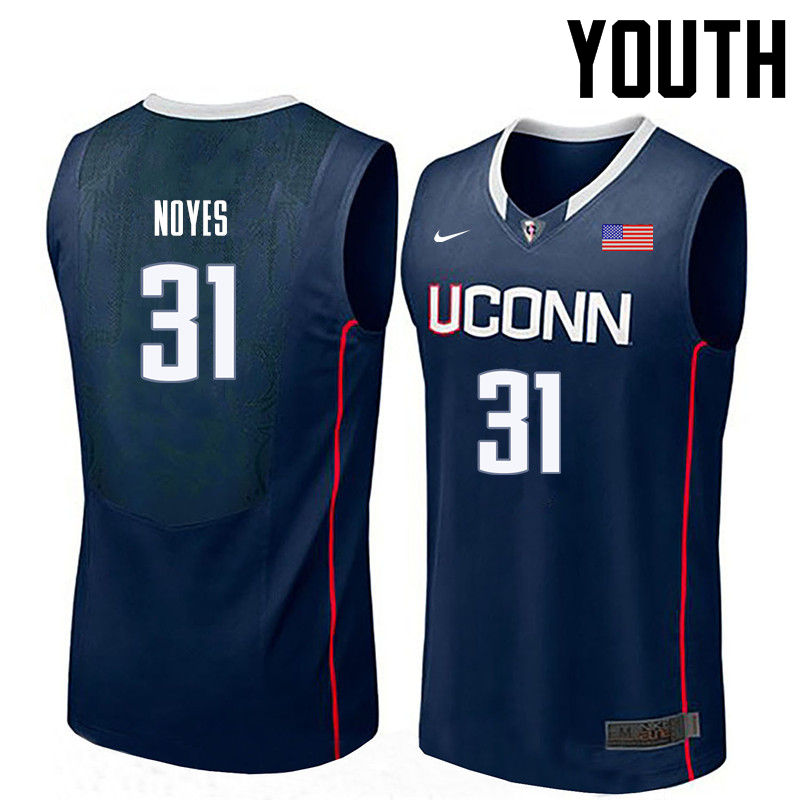 Youth Uconn Huskies #31 Mike Noyes College Basketball Jerseys-Navy